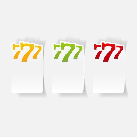 Elemento de diseño realista: tres siete Foto de archivo - 85998769