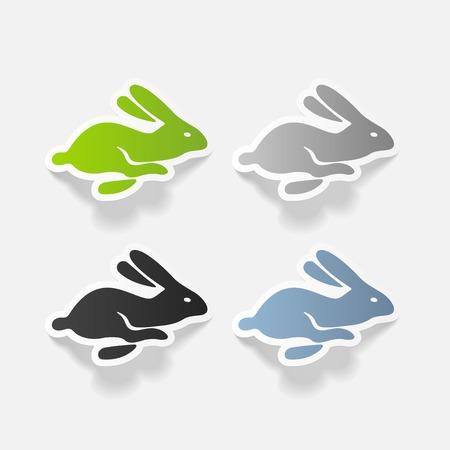 realistic design element: easter rabbit Banco de Imagens - 85998794