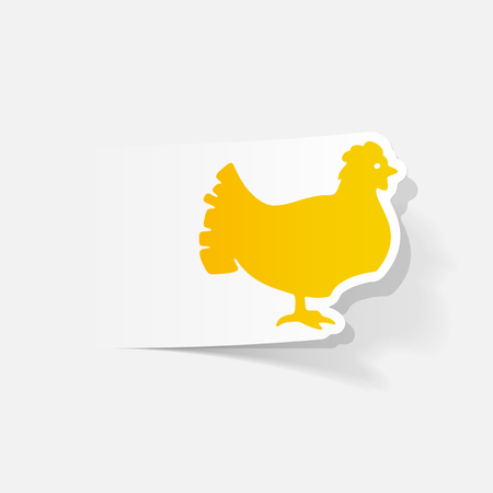 realistic design element: chicken