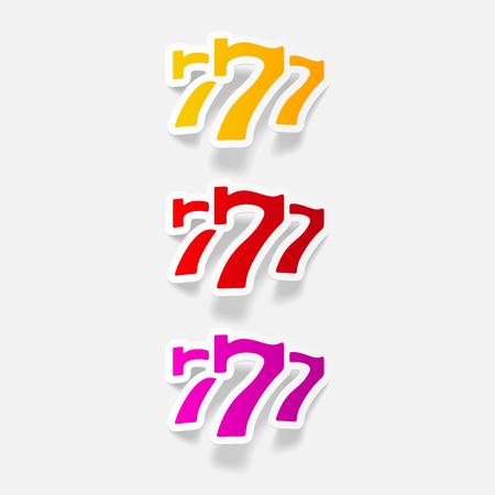Elemento de diseño realista: tres siete Foto de archivo - 85998810
