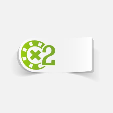 realistic design element: casino chips Illustration