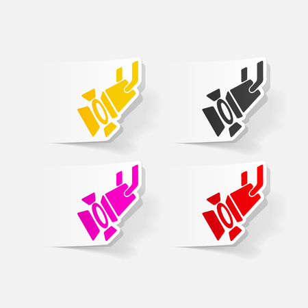 realistic design element: spotlight Illusztráció