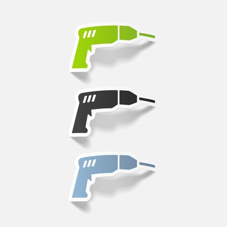 realistic design element: drill Illustration
