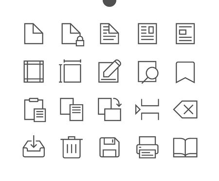 Modifier texte pixel perfect tarifs vecteur mince ligne icons set prêt pour la page des panneaux de signalisation pour les sites web et applications avec le symbole de vecteur simple Banque d'images - 86156490