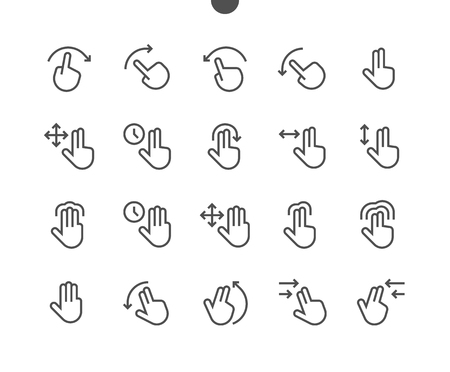 Gesture View Outlined Pixel Perfect Well-crafted Vector Thin Line Icons 48x48 Ready for 24x24 Grid for Web Graphics and Apps with Editable Stroke. Simple Minimal Pictogram Çizim