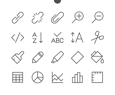 Edit text Pixel Perfect Well-crafted Vector Thin Line Icons 48x48 Ready for 24x24 Grid for Web Graphics and Apps with Editable Stroke. Simple Minimal Pictogram Ilustrace