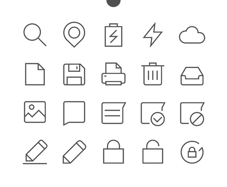 Settings UI Pixel Perfect Well-crafted Vector Thin Line Icons 48x48 Ready for 24x24 Grid for Web Graphics and Apps with Editable Stroke
