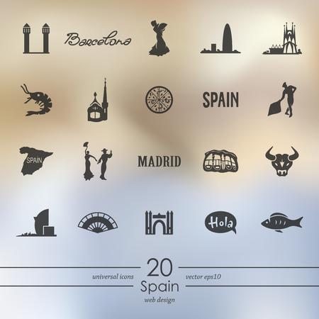 스페인 아이콘 세트