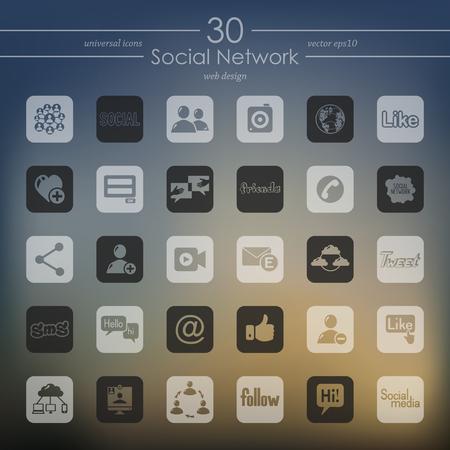 소셜 네트워크 아이콘 세트 일러스트