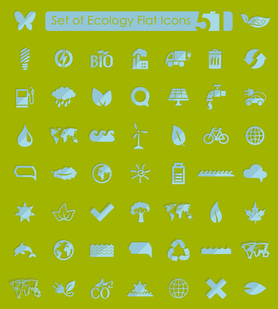 Set of ecology icons 向量圖像