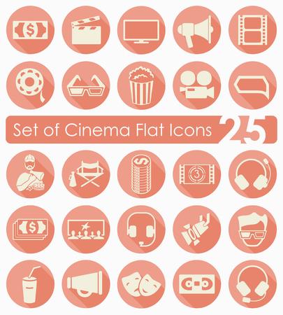 Set of cinema icons Stock Vector - 87381272