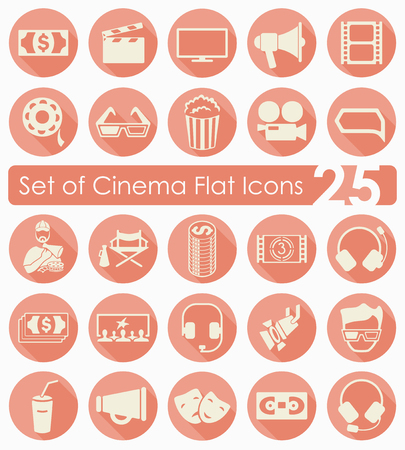 Set of cinema icons Illustration