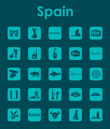 Set of Spain simple icons