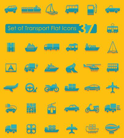 exposición: Conjunto de iconos de transporte