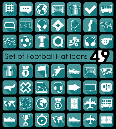 Set of football icons