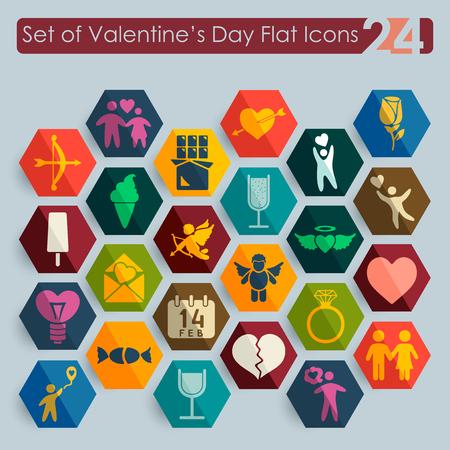 Set van Valentijnsdag iconen