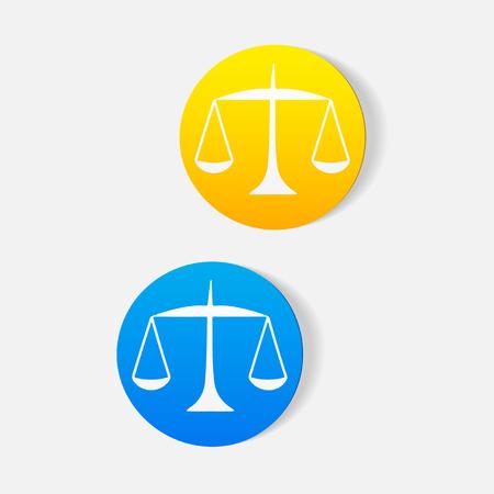 Realistisch ontwerpelement. balans Stock Illustratie