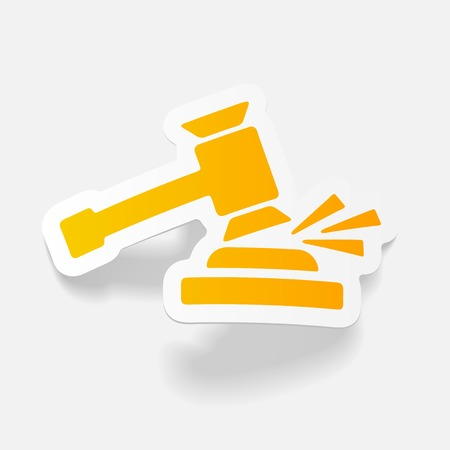 realistic design element. gavel Illustration