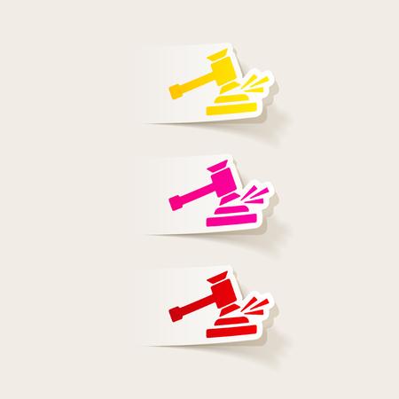 realistic design element: gavel
