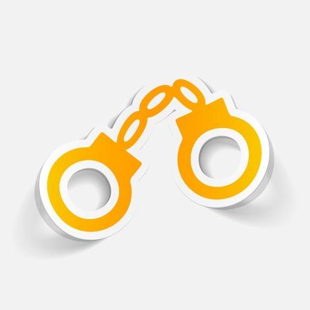 realistic design element: handcuffs Ilustração