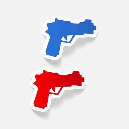 現実的なデザイン要素: 銃  イラスト・ベクター素材