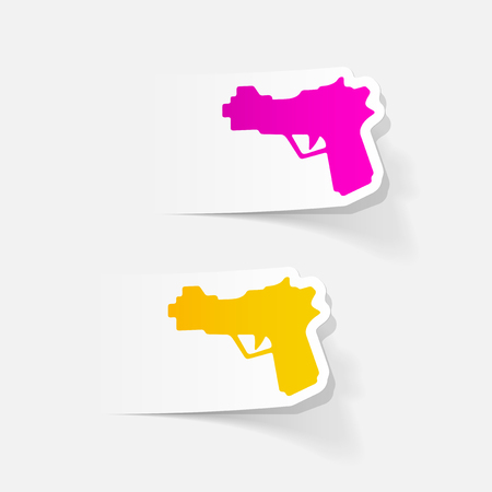 realistic design element: gun Stock Vector - 87381433