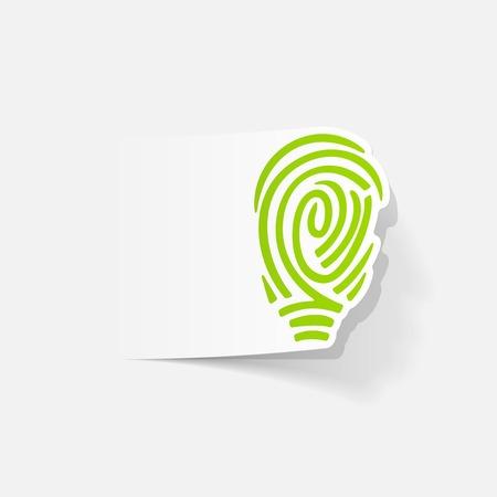 現実的なデザイン要素: 指紋