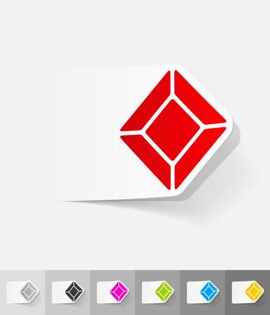 realistic design element. gem