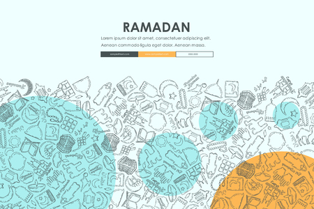 seo: ramadan Doodle Website Template Design