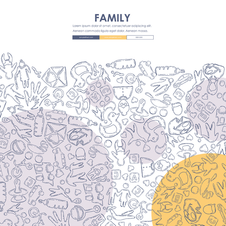 seo: family Doodle Website Template Design