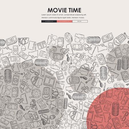 Site web site de cinéma doodle Banque d'images - 87430051