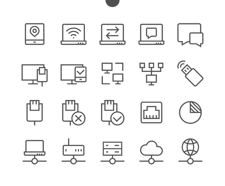 Network UI Pixel Perfect Well-crafted Vector Thin Line Icons 48x48 Ready for 24x24 Grid with Editable Stroke Stock Photo