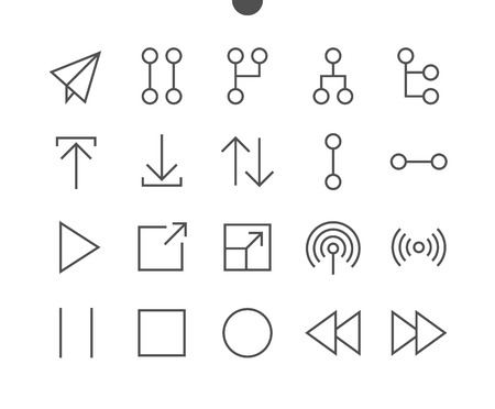 Control UI Pixel Perfect Well-crafted Vector Thin Line Icons 48x48 Ready for 24x24 Grid for Web Graphics and Apps with Editable Stroke. Simple Minimal Pictogram