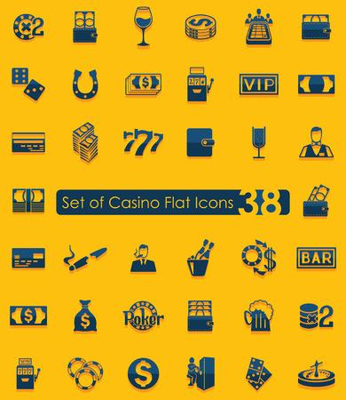 Set van casino iconen