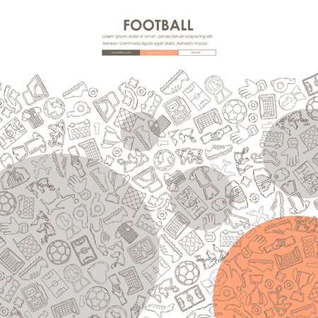 Football Doodle Website Template Design