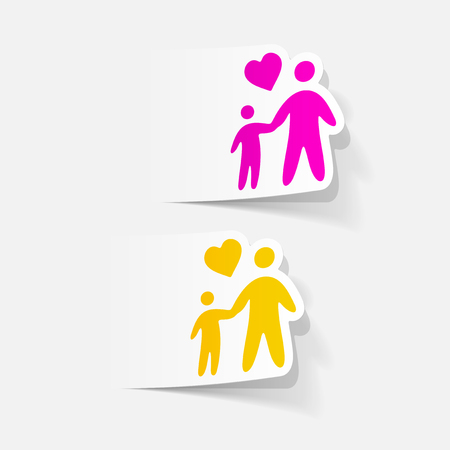 Realistic design element of a family Illustration