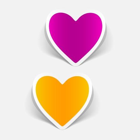 Elemento de diseño realista de un corazón Foto de archivo - 88673545