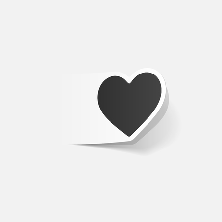 Realistic design element of a heart