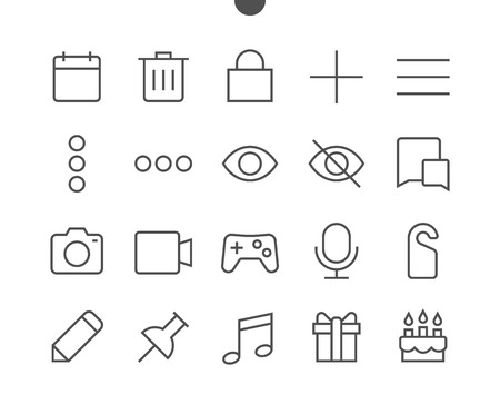 Social UI Pixel Perfect Well-crafted Vector Thin Line Icons 48x48 Ready for 24x24 Grid for Web Graphics and Apps with Editable Stroke. Simple Minimal Pictogram Illustration