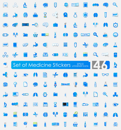 Set of medicine stickers