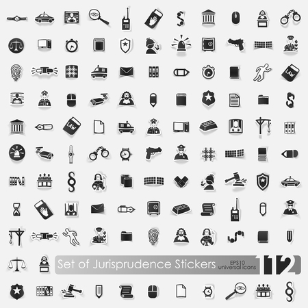Set of jurisprudence stickers