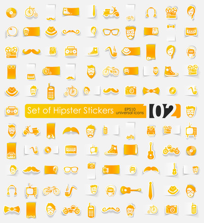 Set van hipster stickers