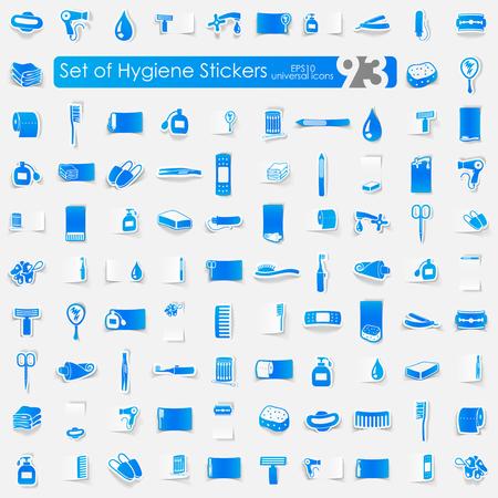 Set of hygiene stickers Ilustrace