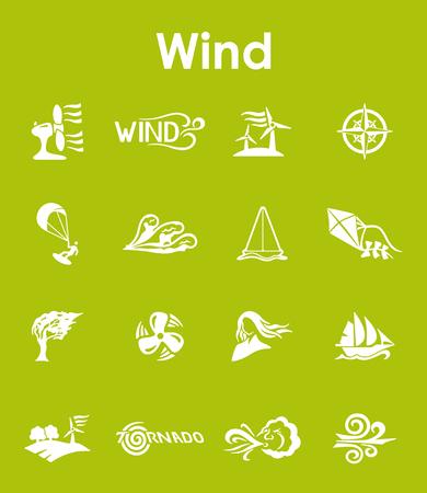 바람의 간단한 아이콘 세트