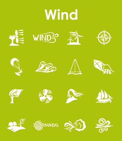 Set of wind simple icons
