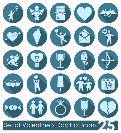 Set of Valentines Day icons 版權商用圖片 - 89141641