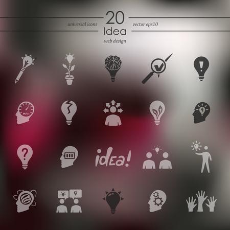 Set of idea icons 向量圖像