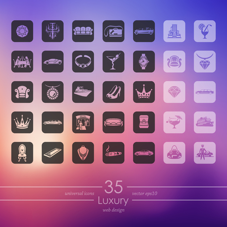 Set of luxury icons