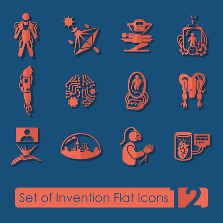Set of invention icons Imagens - 89142382