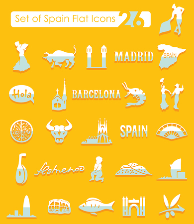 Set of Spain icons